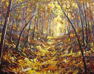 Painting - Trail By Ravine by Maxim Grunin