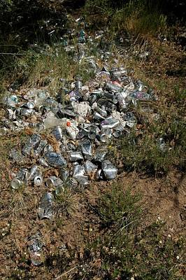 Empty Beer Cans Photograph - Trail Of Empties by Kirk Griffith