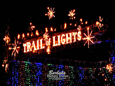 Photograph - Trail Of Lights # 7301 by Barbara Tristan