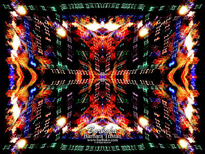 Photograph - Trail Of Lights Abstract #7569 by Barbara Tristan