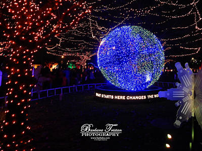 Photograph - Trail Of Lights World #7359 by Barbara Tristan