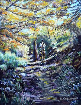 Trail Ride In The Sequoias Original by Olga Kaczmar