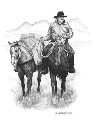 Wall Art - Drawing - Trail Rider by Paul Shafranski