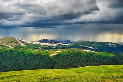 Photograph - Trail Ridge Road Study 2 by Robert Meyers-Lussier