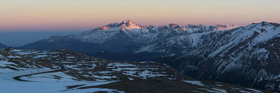 Photograph - Trail Ridge Road Sunset Panorama by Aaron Spong