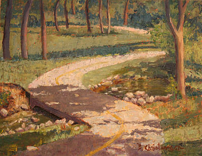 Arkansas Painting - Trail Shadows by Becky Christenson