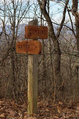Photograph - Trail Sign #1 by Paul Rebmann