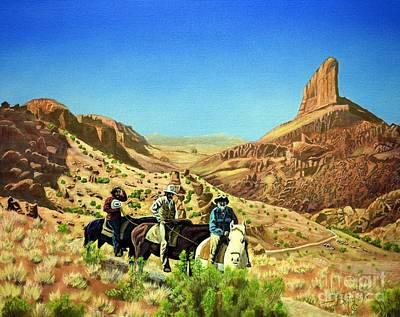 Trail To A Fiery End Print by Jerry Bokowski