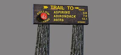 Adirondack Drawing - Trail To Aspiring Adirondack 46ers by Michael French