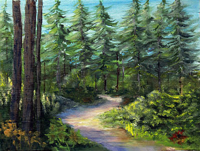Juneau Park Painting - Road To The Gruening Cabin by Jim Leach