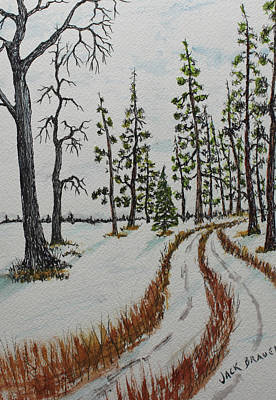 Painting - Trail To Camp by Jack G Brauer