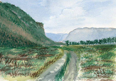Trail To Canada Art Print