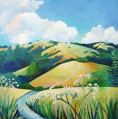 Windy Hill Painting - Trail To Skyline by Stephanie  Maclean