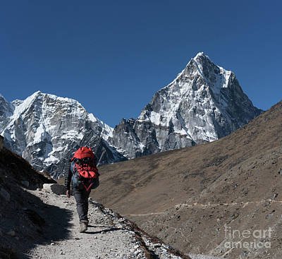 Photograph - Trail To Tabuche In Nepal by Mike Reid