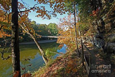 Trail To The Bridge Art Print by Steve  Gass