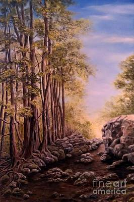 Painting - Trail To The Falls by Anna-maria Dickinson