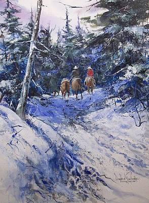 Trail To Winter Camp Art Print by Douglas Trowbridge