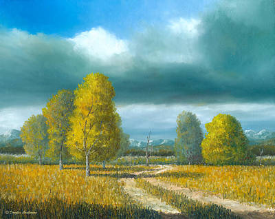 Painting - Trail Under Big Sky by Douglas Castleman