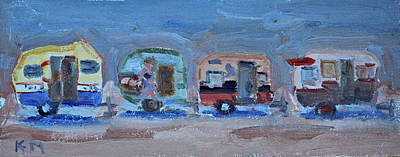 Painting - Trailer Fun by Karen McLain