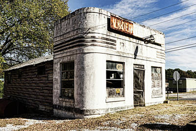 Photograph - Trailer Park Gas Station by Sharon Popek