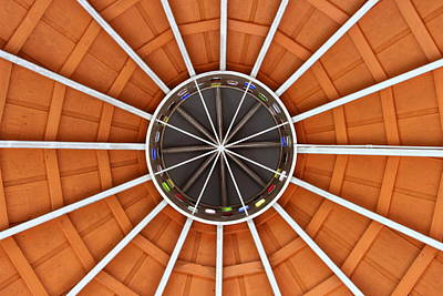 Photograph - Trailhead Bandstand Stage Roof by Patricia Spicuzza