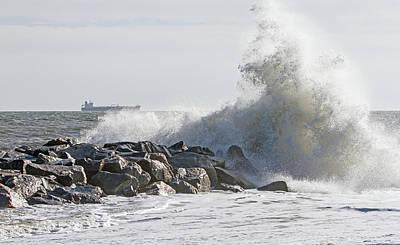 Photograph - Trailing Edge Of Hurricane Jose  by Allan Levin