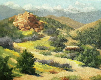 Painting - Trails Of Vasquez Canyon by Sandy Fisher