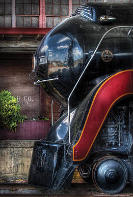 Train - Engine - 611 - Nw - J Class - Steam 4-6-4 Print by Mike Savad