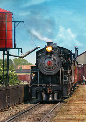 Train - Engine - Strasburg Number 9 Art Print by Mike Savad
