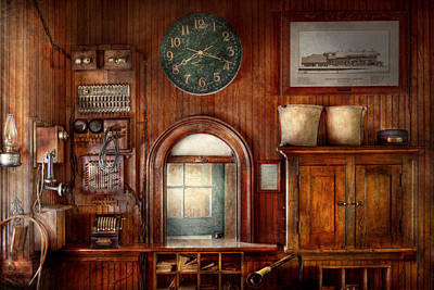 Train Photograph - Train - Office - The Ticket Takers Window by Mike Savad