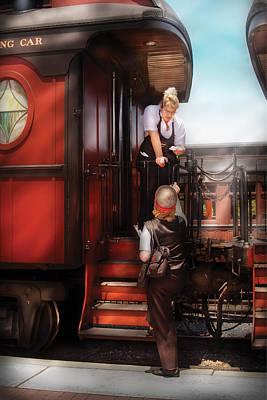 Train - Yard - Receiving A Telegram  Art Print