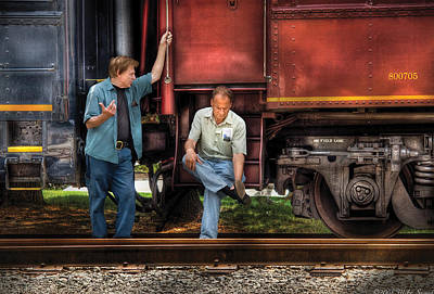 Train - Yard - Shoot'in The Breeze Art Print by Mike Savad