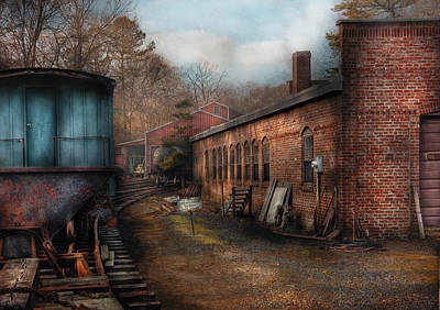 Train - Yard - The Train Yard Art Print by Mike Savad