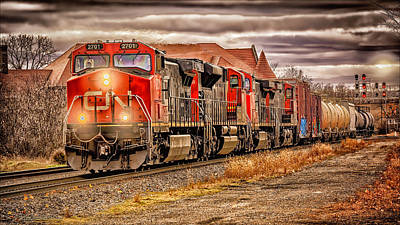 Photograph - Train 2701  Out Of Durand by LeeAnn McLaneGoetz McLaneGoetzStudioLLCcom