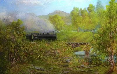 Painting - Train 44 by Michael Mrozik