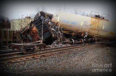 Photograph - Train Accident  by Paul Ward