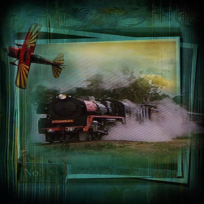 Digital Art - Train And Plane by Sue Masterson
