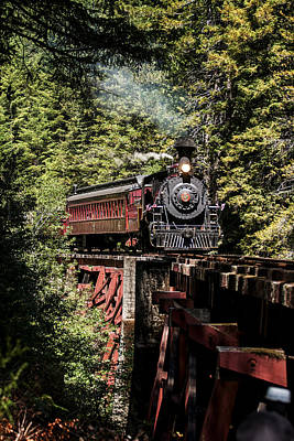 Photograph - Train And Trestle by Betty Depee