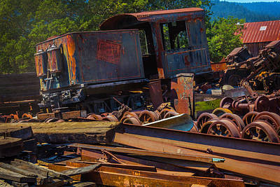 Train Bone Yard Art Print by Garry Gay