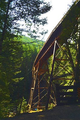 Photograph - Train Bridge by Brian O'Kelly