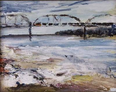 Painting - Train Bridge by Helen Campbell