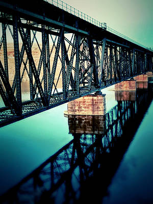 Digital Art - Train Bridge by Susan Kinney