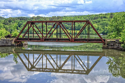 Train Bridge Thetford Vermont Print by Edward Fielding