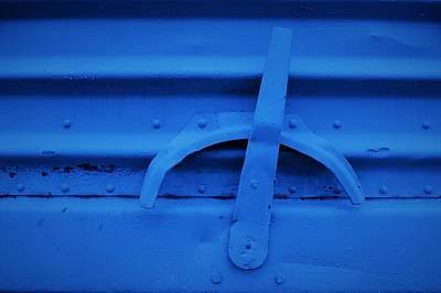 Photograph - Blue Boxcar Bracket  by Cheryl Hoyle