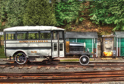 Train - Car - The Rail Bus Art Print by Mike Savad