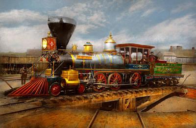 Photograph - Train - Civil War - Em Stanton 1864 by Mike Savad