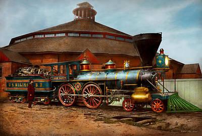 Photograph - Train - Civil War - General Haupt 1863 by Mike Savad