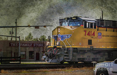 Photograph - Train Coming Through by Joan Bertucci