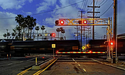 Photograph - Train Crossing by Timothy Bulone
