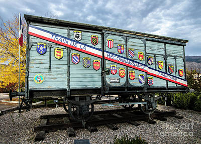 Train De La Reconnaissance Francaise - Ogden - Utah Art Print by Gary Whitton